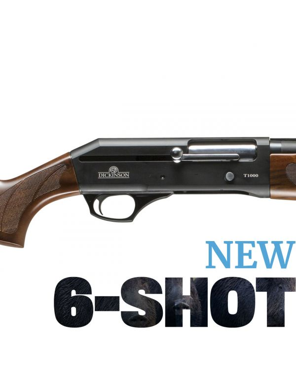 Dickinson T-1000 6-Shot Straight Pull Shotgun - Timber