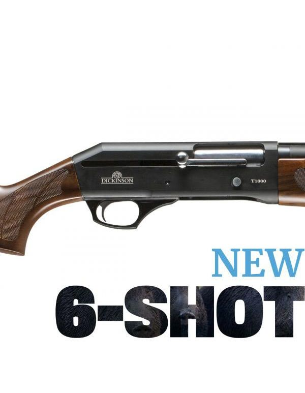 Dickinson T-1000 6-Shot Straight Pull Shotgun - Timber