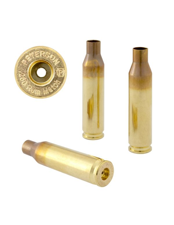 Peterson .260 REM Unprimed Brass Rifle Casings