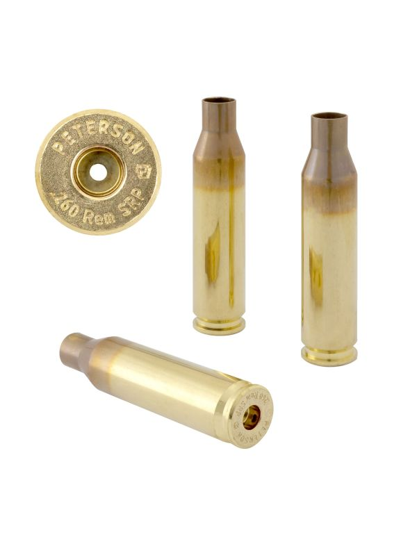 Peterson .260 REM SRP Unprimed Brass Rifle Casings