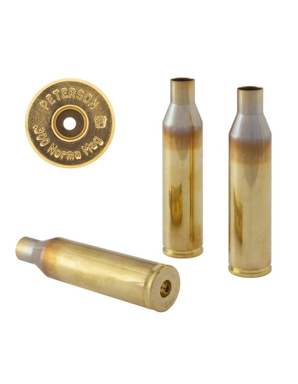Peterson .300 Norma Unprimed Brass Rifle Casings