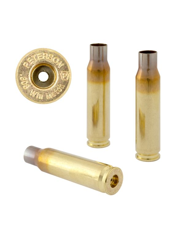 Peterson .308 WIN Match Unprimed Brass Rifle Casings