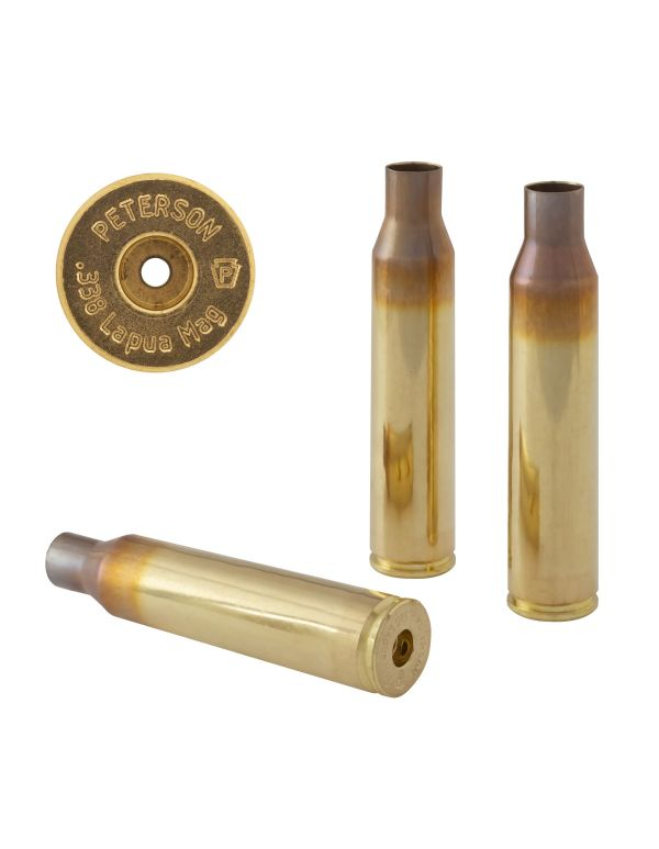Peterson .338 Lapua Unprimed Brass Rifle Casings