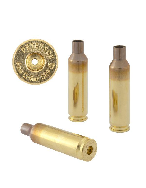 Peterson 6mm Creedmoor SRP Unprimed Brass Rifle Casings
