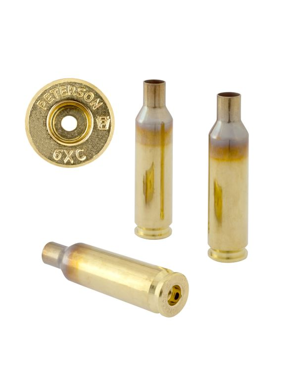 Peterson 6XC Unprimed Brass Rifle Casings