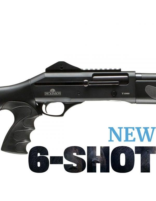 Dickinson T-1000 6-Shot Straight Pull Shotgun - Tactical