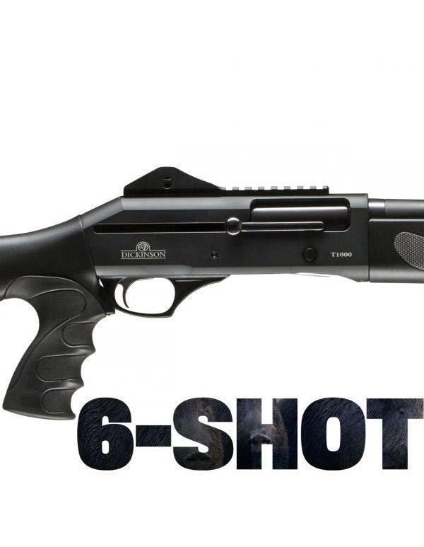 Dickinson T-1000 6-Shot Straight Pull Shotgun - Tactical