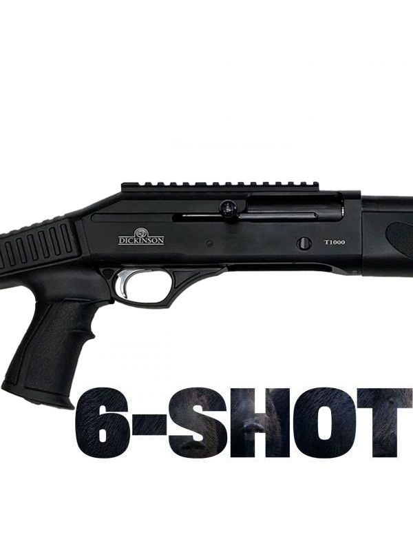 Dickinson T-1000 6-Shot Straight Pull Shotgun - Tactical with Adjustable Stock