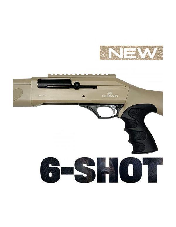 Dickinson T-1000 6-Shot Straight Pull Shotgun - Tactical in Tan