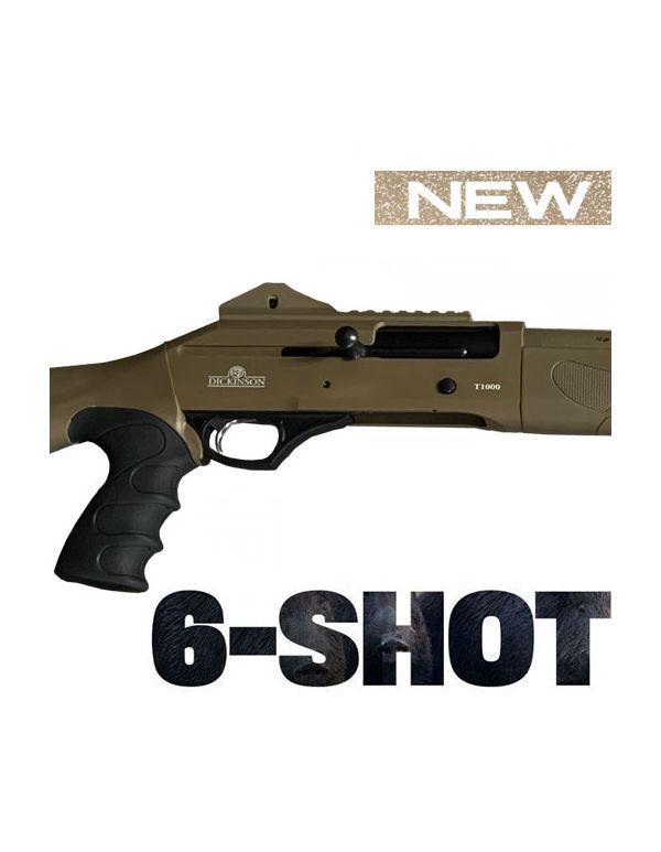 Dickinson T-1000 6-Shot Straight Pull Shotgun - Tactical in FDE