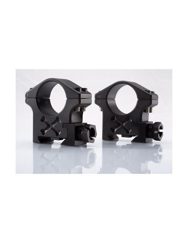 Tactical Rings for Picatinny Rails - 34mm - Black Armour